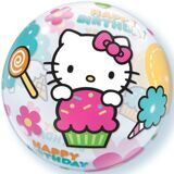 "Шар Сфера (22""/56 см ) BUBBLE Котенок (Hello Kitty) HB, 1 шт"